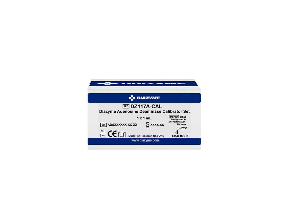 dz117a cal adenosine deaminase ada one 1 level calibrator set