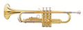 New Oxford Brass Trumpet (New) w/ mouthpiece and case