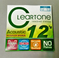 Cleartone Treated Phosphor Bronze Acoustic Guitar Strings 12-53 Light