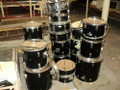 "Lot of 18 Pieces of Miscellaneous Drums From 10"" Toms to 22"" Bass Drums"