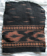 Ikat Wrap Yoga Pants - Black #3 Brown Border - L