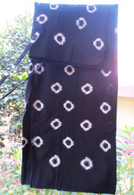 Ikat Wrap Yoga Pants - Black White Circles