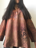 Shirts Cori Collection Hand Dyed and Painted Kurta - AUM - Womens -Small