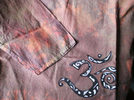 Shirts Cori Collection - Hand Dyed and Painted Kurta - AUM B&W -  Men-S/Women-M