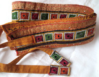 Original Art Belt - Hand Painted -Cori Collection  - GOLD MIRROR