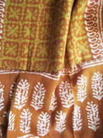 Bhatik Long Scarf100% Cotton - Fair Trade - Brown Green