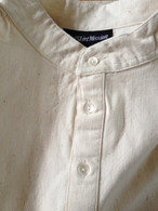 Cotton Kurta Shirt in ORGANIC Natural (MENS/UNISEX) - Size S