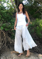 Embroidered Bell Bottoms Natural - Bell - S/M