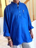 ALL NEW 100% Cotton Kurta Shirts in BLUE (UNISEX)  S-M-XL