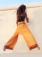 ALL NEW Unisex Indian Wrap Yoga Pants - TAN