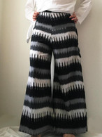 All New Bell Bottoms - Palazzo Wide Leg Pant - IKAT Black & White