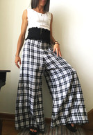 All New Bell Bottoms - Palazzo Wide Leg Pant - Gingham