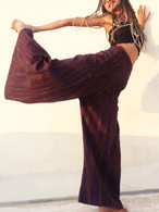 All New Bell Bottoms - Palazzo Wide Leg Pant - Heavy Khadi - Purple Gold