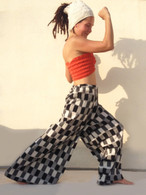 All New Bell Bottoms - Palazzo Wide Leg Pant - IKAT Checks