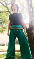 ALL NEW UNISEX Indian Wrap Yoga Pants - Green