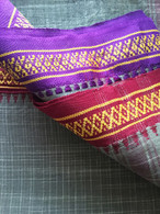 ALL NEW UNISEX Indian Wrap Yoga Pants - Checks Olive Purple/Red  - XS Only