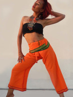 ALL NEW UNISEX Indian Wrap Yoga Pants - Burst of Orange
