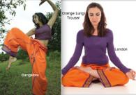 ALL NEW UNISEX Indian Wrap Yoga Pants - Burst of Orange