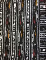 Ikat Wrap Yoga Pants - Gray Traditional - M