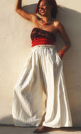 ALL NEW Amazing Comfy White Pants in Hand Loom Cotton - One Size