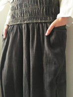 ALL NEW (FULL BODY) Harem Pant in Charcoal Gray Reversible Fabric - PRE-ORDER