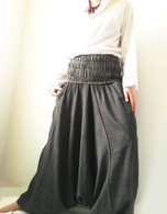 ALL NEW Harem Pant in Charcoal Gray-  Reversible Style