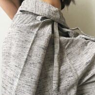 ALL NEW Unisex Solid Yoga Pant in Hand Loom Cotton - GRAY TWILL COTTON