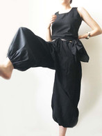 New Balloon Pants in Hand Loom Cotton - Black  XS/S & M/L