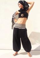 New Balloon Pants Elasticated Waist - Black - XS/S
