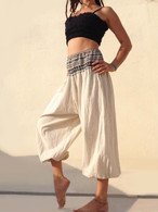 New Balloon Pants Elasticated Waist - Natural  XS/S