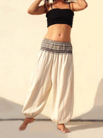 New Balloon Pants Elasticated Waist - Natural - XS/S