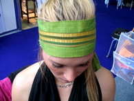 Narrow headband on top of plain headband!