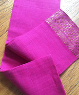 Headband Fabric With Sari Border - PINK - FREE with $40 ORDER!