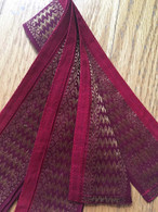 Headband / Belt Wide Sari Border - Burgundy - FREE with $40 ORDER!