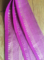 Headband / Belt Wide Sari Border - PINK - FREE with $40 ORDER!