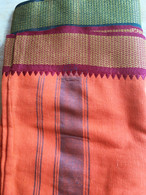 Sale UNISEX Indian Wrap Pants - Orange - Small