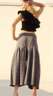 ALL NEW Cotton Culottes - Gorgeous Two-Tone Gray - One Size