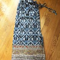 Pull String Pants - Full Length - BlueBlock Print