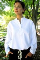 100% Cotton Kurta Shirt in WHITE (WOMEN) - S