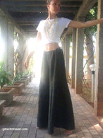 All New Bell Bottoms - Palazzo Wide Leg Pant - Heavy Khadi - Forest Green One size:  M/L/XL