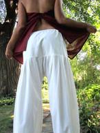 Balloon Pants in Hand Loom Cotton - Cream S/M
