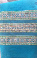 Beautiful Long Turquoise Wrap Around Skirt - Size M