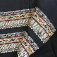 XS Black Ethnic Two-toned Wrap Around Skirt - Size XS