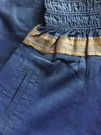 Harem Pant With Sari Border Midnight Blue - Size XS/S