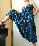 ALL NEW Indigo Leaves Harem Pant in Reversible Style - Wear Two Ways