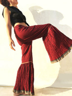 ALL NEW Rocket Pants - Crushed Bell Bottoms - Burgundy Gold