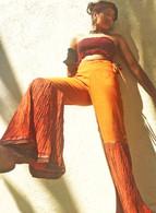 ALL NEW Rocket Pants - Crushed Bell Bottoms - Orange GOLD M/L ONLY
