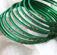 Indian Bangles - Dark Green - Free with $20 purchase!