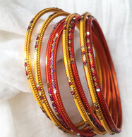 Indian Bangles - Gold Mix - Free with $10 purchase!