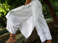 New White Layered Pant - Khadi  - M/L/XL